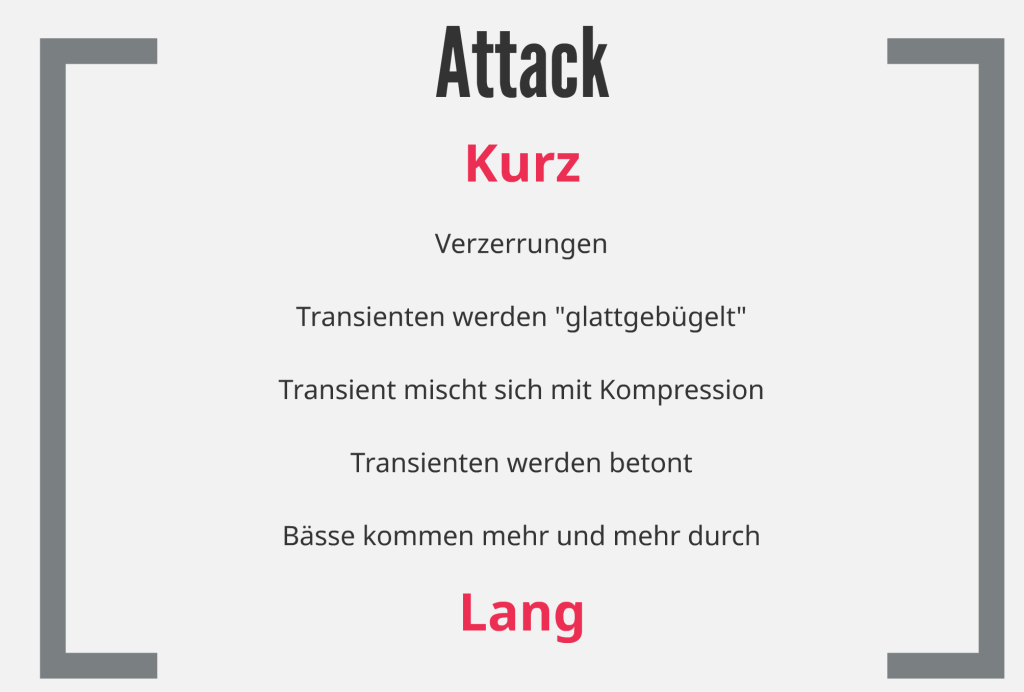 Audio Kompressor richtig einstellen - Attack